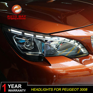 Image 4 - Car Styling Head Lamp case for Peugeot 3008 2017 Headlights LED Headlight DRL Lens Double Beam Bi Xenon HID Car Accessorie