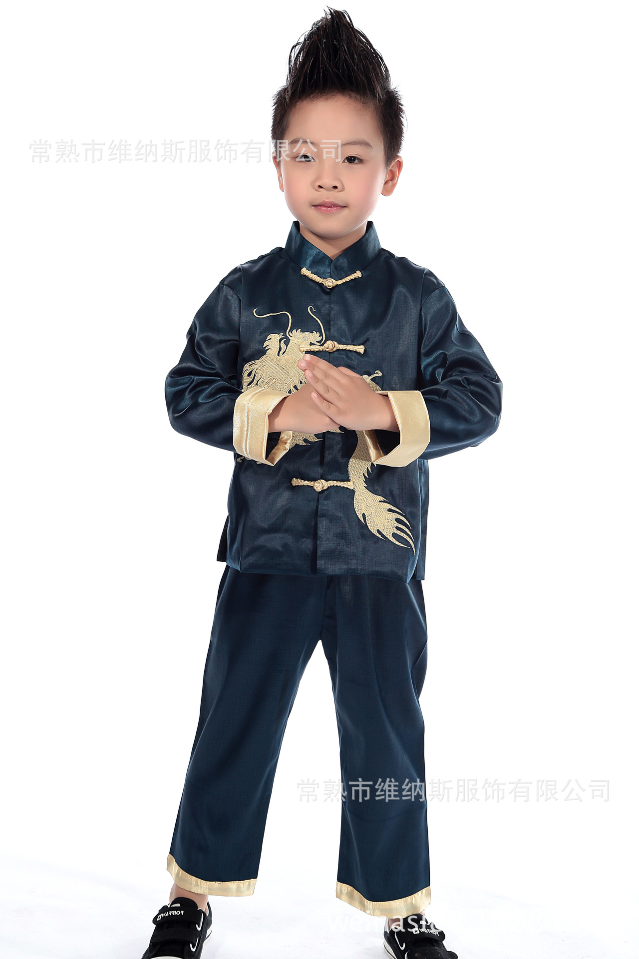 Children Chinese Costume Spring And Autumn Traditional Chinese Garments For Boys Tops New Year Service Chinese Style Formal Dres