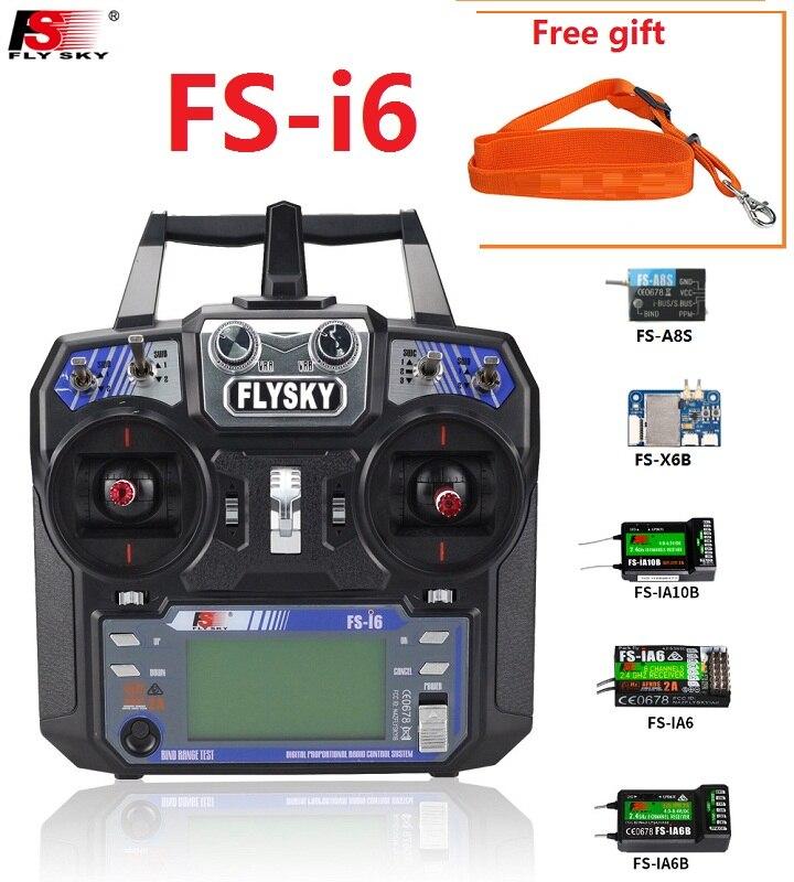 FS Flysky I6 FS-i6 2.4G 6ch Transmitter RC Controller With IA6B X6B A8S IA6 IA10B Receiver For Airplane Heli UAV Boat