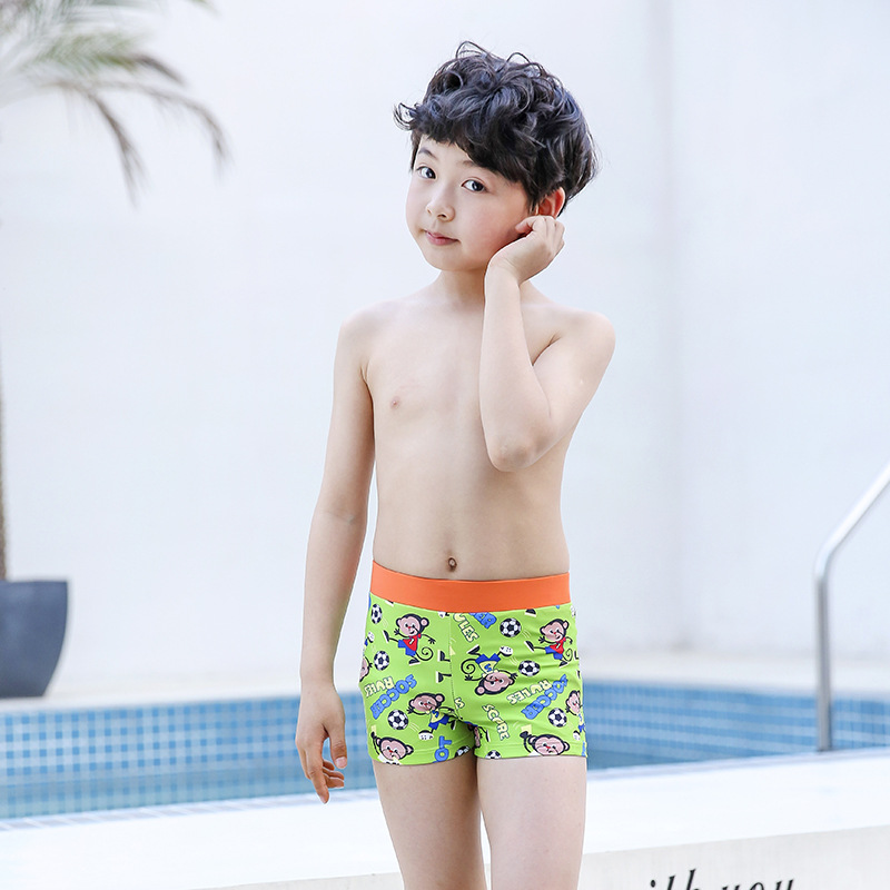 Sharp Swam New Style KID'S Swimwear R26 Handsome BOY'S Swimming Cartoon AussieBum Comfortable Large Size Anti-Chlorine Quick-Dry