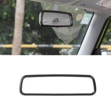 لسوزوكي جيمي 2019 2020 2021 JB64 JB74 سيارة مرآة الرؤية الخلفية الديكور غطاء الكسوة الداخلية ملحقات ملصقات ألياف الكربون