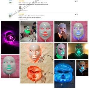 Image 5 - VIP 7 kolorowa lampa LED Photon maska na twarz pielęgnacja skóry odmładzanie przeciw zmarszczkom trądzik skóra dokręcić zabiegi kosmetyczne wybielić urządzenie