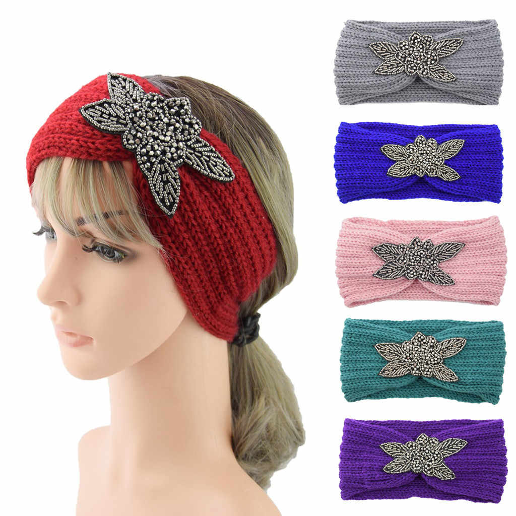 Scrunchie Hair Accessories Thermal Hand Knitting Wool Head Hairband Sweet Girls Hair Hairband заколки для волос Dropshipping ##0