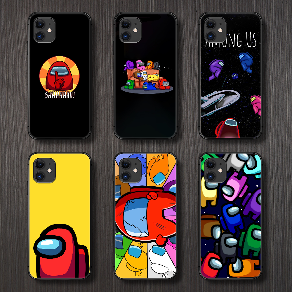 Among Us Phone Case For Iphone 4 4s 5 5s Se 5c 6 6s 7 8 Plus X Xs Xr 11 Pro Max 2020 Black Funda 3d Cell Cover Painting Back Tpu Phone Case Covers Aliexpress