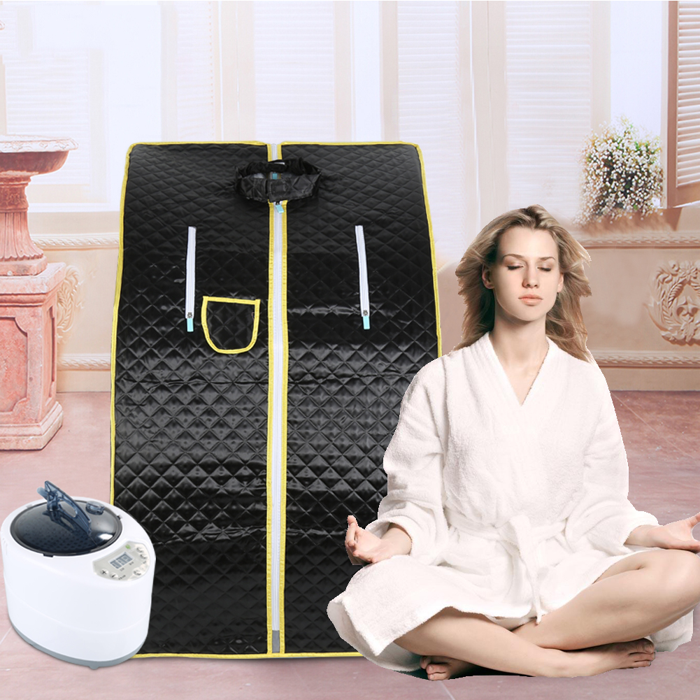 Portable Therapeutic Steam Sauna Spa Full Body Slim Detox Weight Loss Indoor Shower Room Sauna Accessories Steam Bath Shower HWC