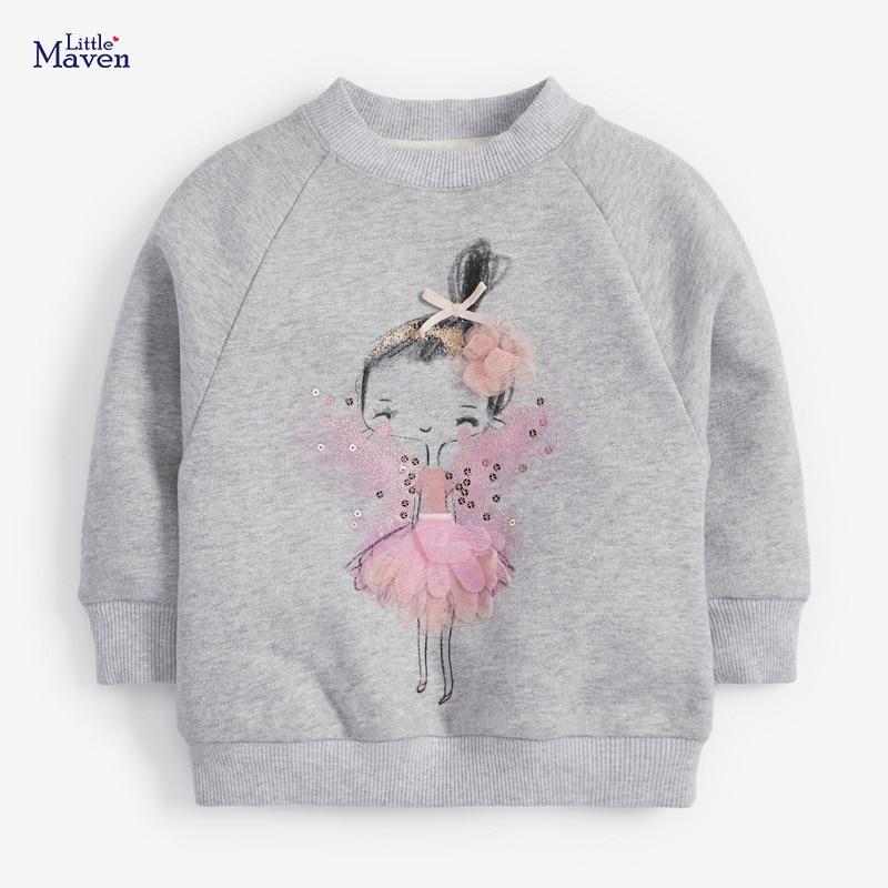 Little Maven children's sweater autumn winter children's sweater girls' long sleeve round neck fleece children's sweater C0311 1