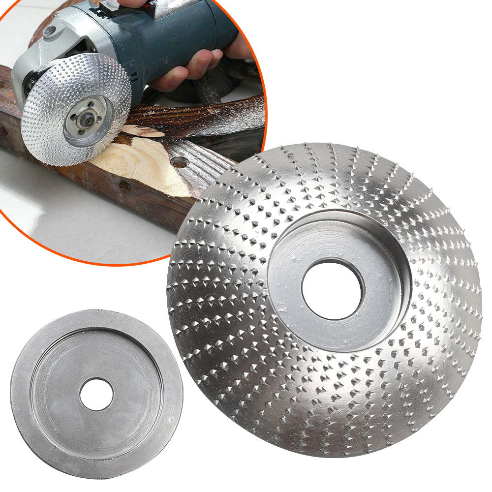 85/100mm Polishing Angle Grinding Wheel High-Carbon Steel Wood Sanding Carving Shaping Disc Accessories Tool For Woodworking