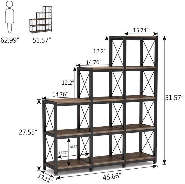 Industrial Ladder Bookshelf 6