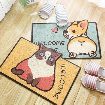 Welcome Doormat Entrance Hallway Rectangle Printed Non-Slip Floor Rugs Front Door Mat Outdoor Rugs Carpet Bedroom Kitchen image