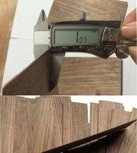 6Pieces/Lot 48x10cm Thickness:1mm Black Walnut Log Bark Veneer Pure Solid Wood Chips