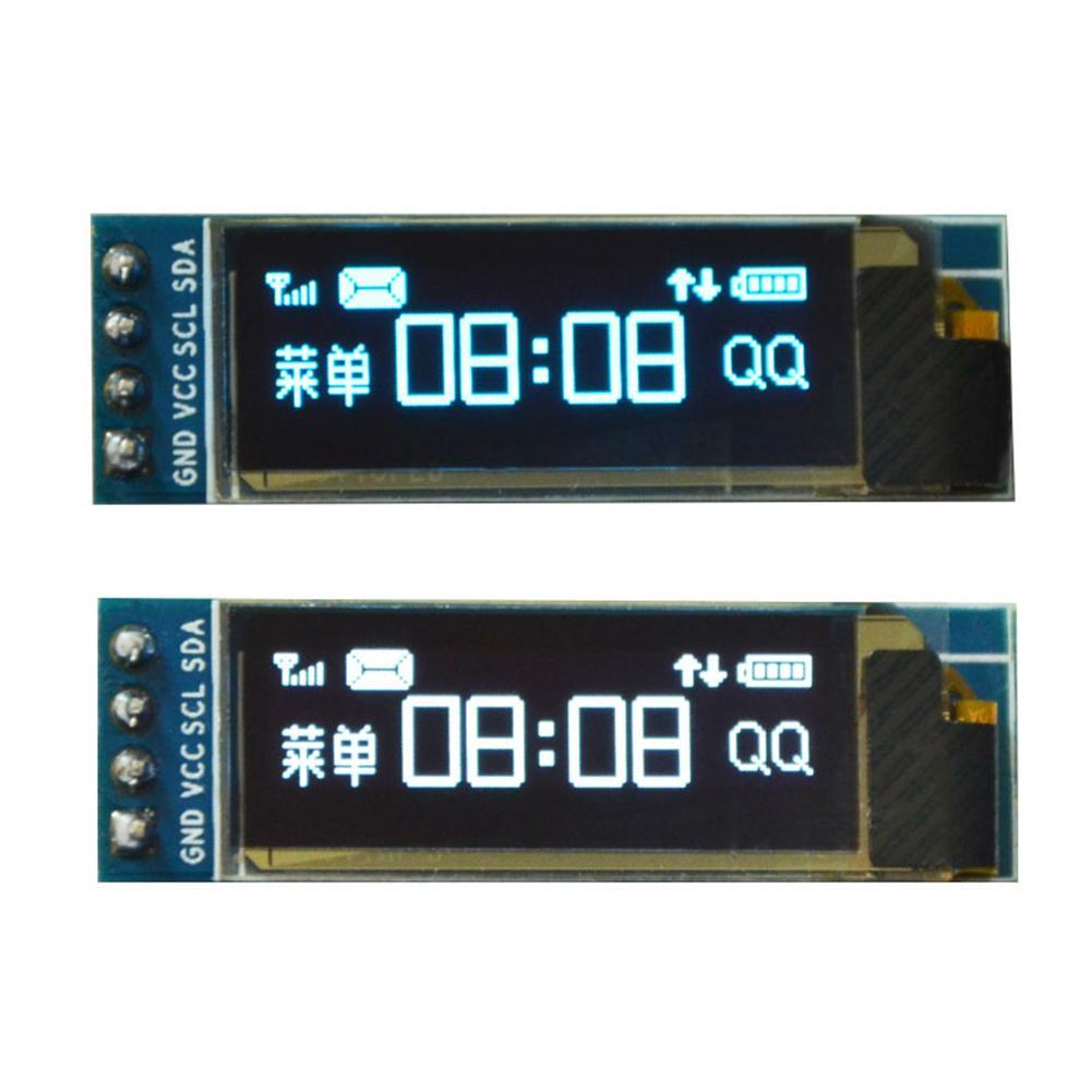 New 1Pcs 0.91 Inch OLED Display Module White OLED 128X32 LCD LED Display SSD1306 0.91 IIC I2C Communicate For Ardunio Supplies