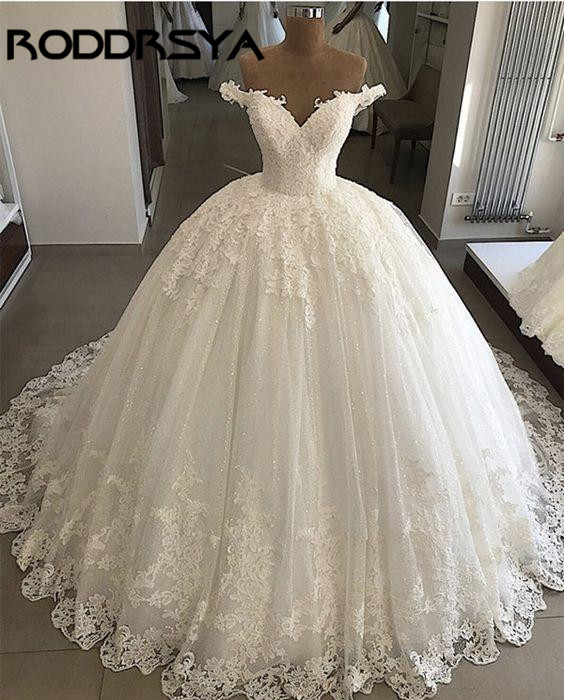 RODDRSYA African Wedding Dress Vintage 2019 Off Shoulder Modern Applique Lace Beads Ball Gown Bridal Gowns Vestido De Novia