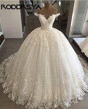 RODDRSYA African Wedding Dress Vintage 2019 Off Shoulder Modern Applique Lace Beads Ball Gown Bridal Gowns vestido de novia