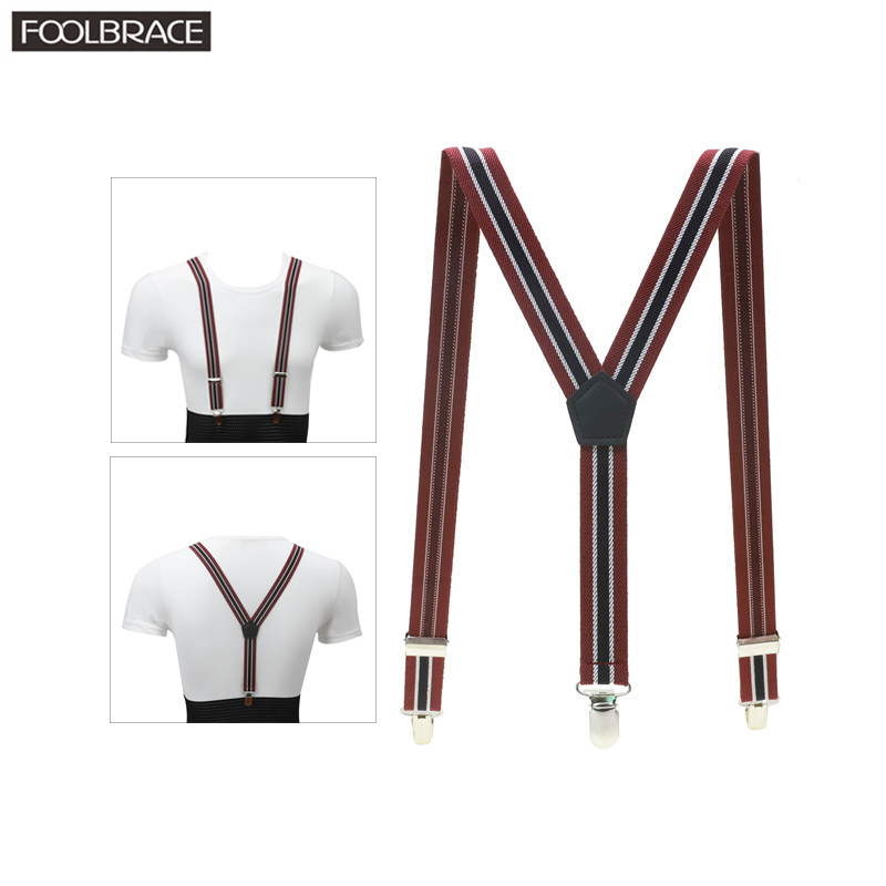 3 Clips Y Back 2.5Cm Width Kid's Suspenders Boy/girl Elastic Adjustable Braces  Children Boys Girls Accessories