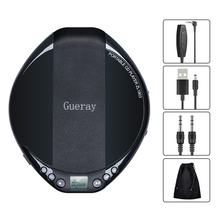 Portable CD Player Personal Compact Walkman CD Player AUX Cable Built-in Headphones HiFi Music Reproductor CD Car Audio Device