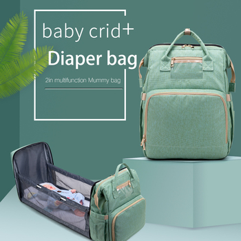 Large Capacity Diaper Bag Mummy Birthing Backpack Travel Portable Shoulder Multifunction Fold Bed Bags Waterproof Stylish Pack