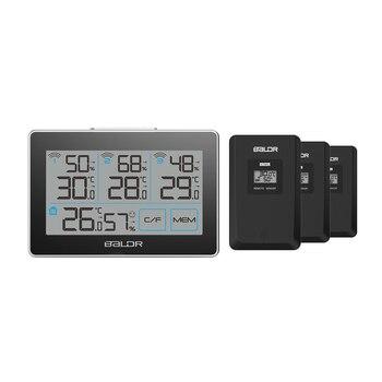 Baldr CD ميزان الحرارة مقياس الحرارة محطة الطقس تستر 3 اللاسلكية في الهواء الطلق الارسال الرطوبة الاستشعار رصد