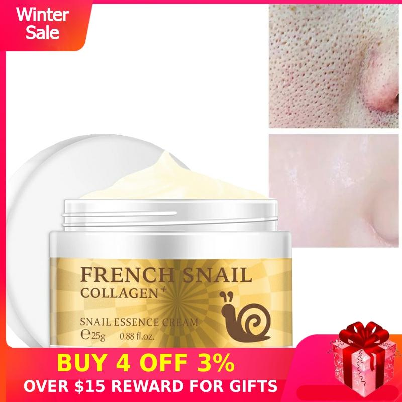 Hyaluronic Acid Face Cream Snail Essence Collagen Facial Day Creams Moisturizer Anti-Wrinkle Anti-aging Serum Korean Skin Care P