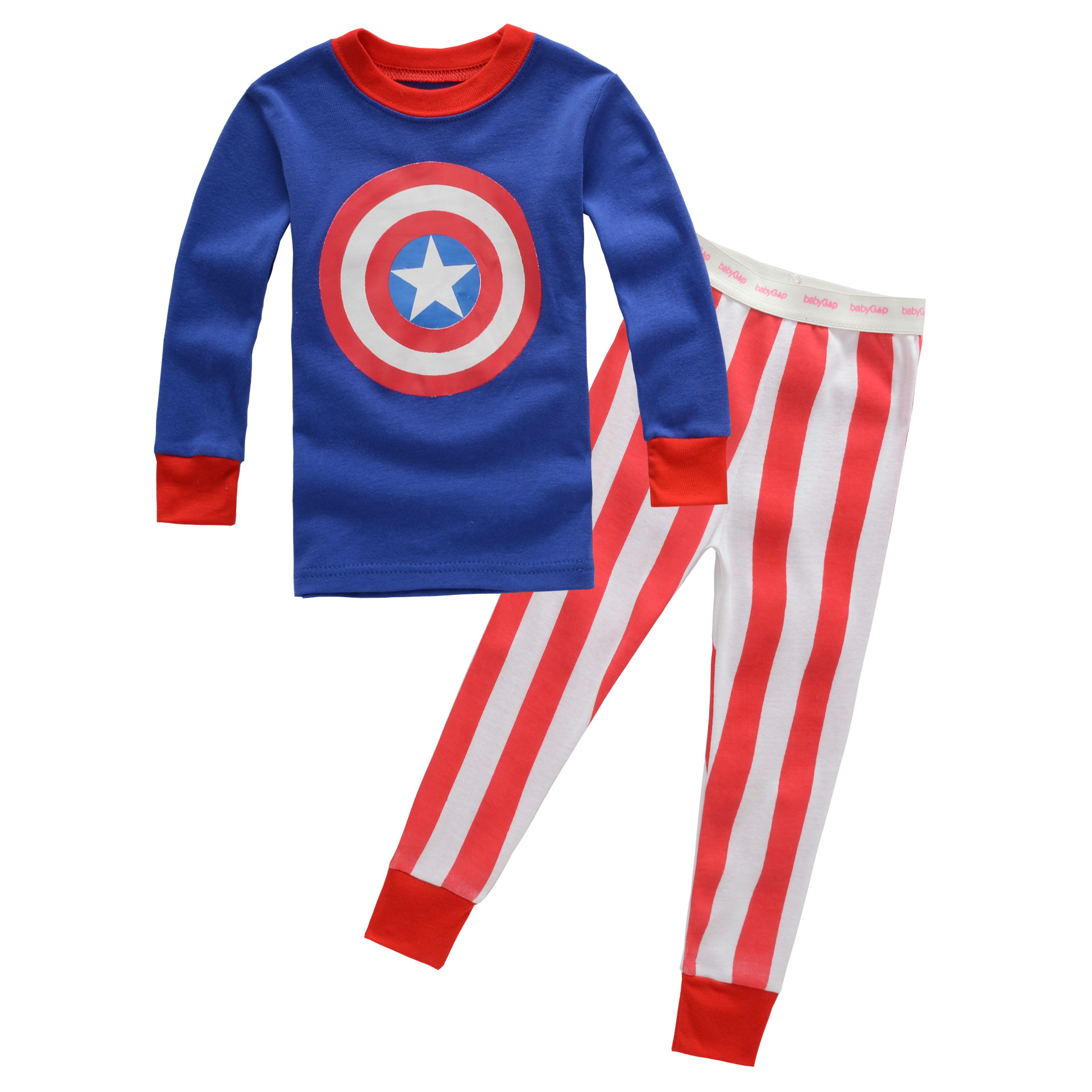 Manufacturers Wholesale Children Childrenswear Japanese Korean Foreign Trade Home Wear Foshan Boys And Girls Pajamas Tracksuit
