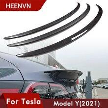 Heenvn New Car Trunk Wing Spoilers For Tesla Model Y Spoiler 2021 Accessories Spoiler Real Carbon Fiber Accessory Matte Glossy