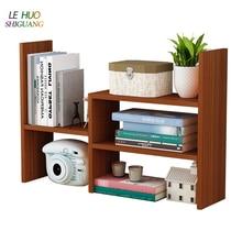 Креативный компьютерный стол книжная полка простая деревянная полка маленькая офисная рамка для хранения настольный книжный шкаф для офиса учебы мебель для дома