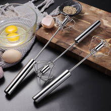 3 Sizes Semi-automatic Mixer Egg Beater Hand Pressure Turning Stainless Steel Whisk Blender Cream Stirring Kitchen Tool