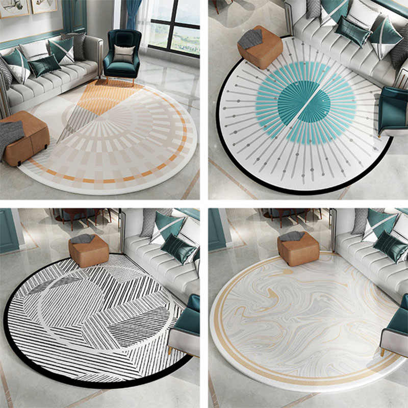 Large Round Rug Carpet For Living Room Sofa Chair Area Rug Dining Table Round Carpet Modern Nordic Geometric Kids Room Floor Mat Carpet Aliexpress
