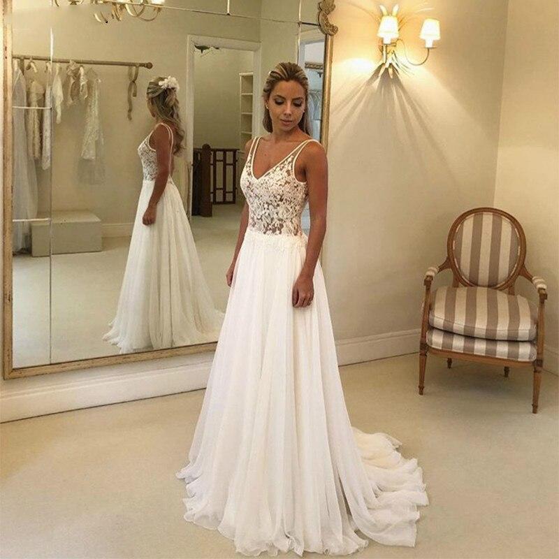 Bohemian-Wedding-Dress-2019-Sleeveless-V-Neck-Lace-Open-Back-Unique-Romantic-Backless-Boho-Beach-Bridal (3)