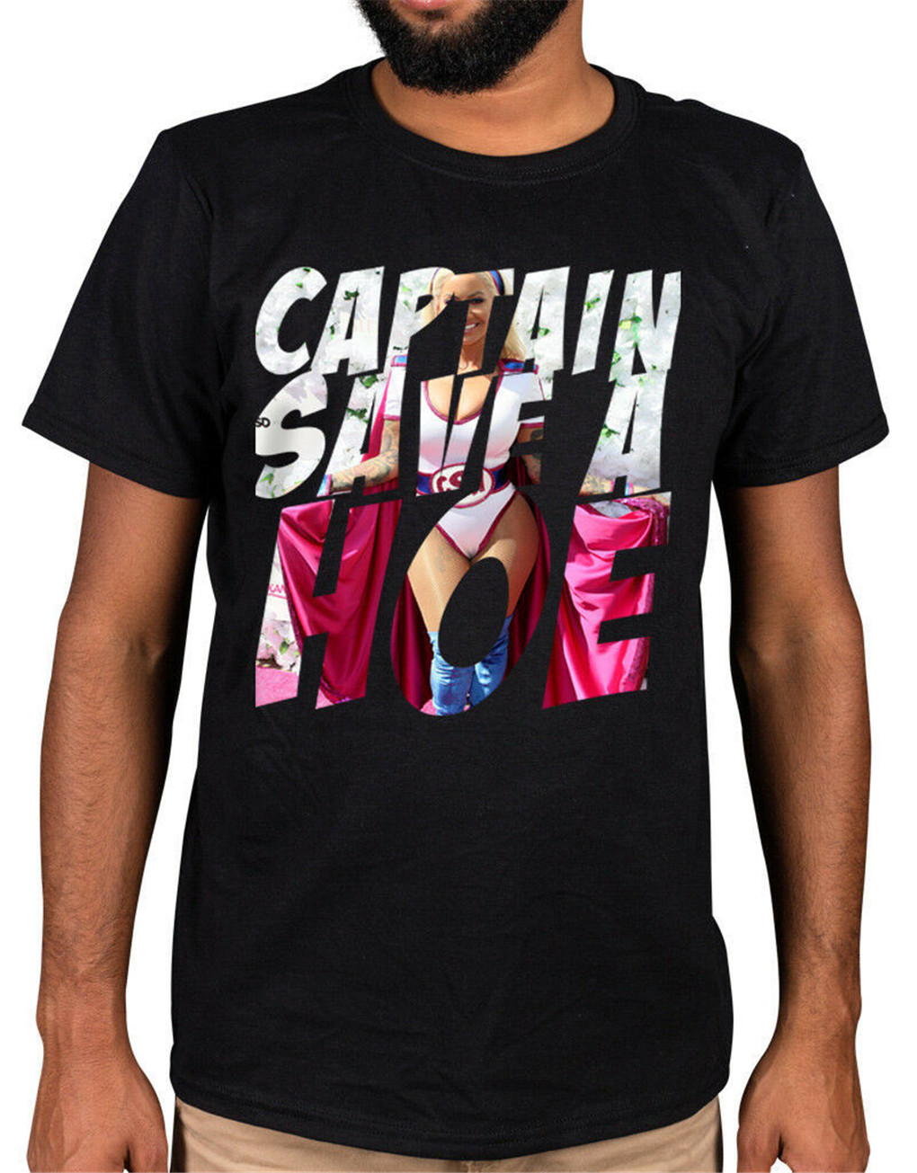 Captain Save A Hoe T-Shirt Slut Walk <font><b>21</b></font> <font><b>Savage</b></font> Amber Rose Tee Shirt Newest Fashion image
