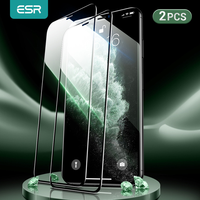 Esr para iphone se 2020 protetor de tela de vidro temperado para iphone 12 mini 12pro max 11 pro x xr xs max 3d filme de tela de cobertura completa