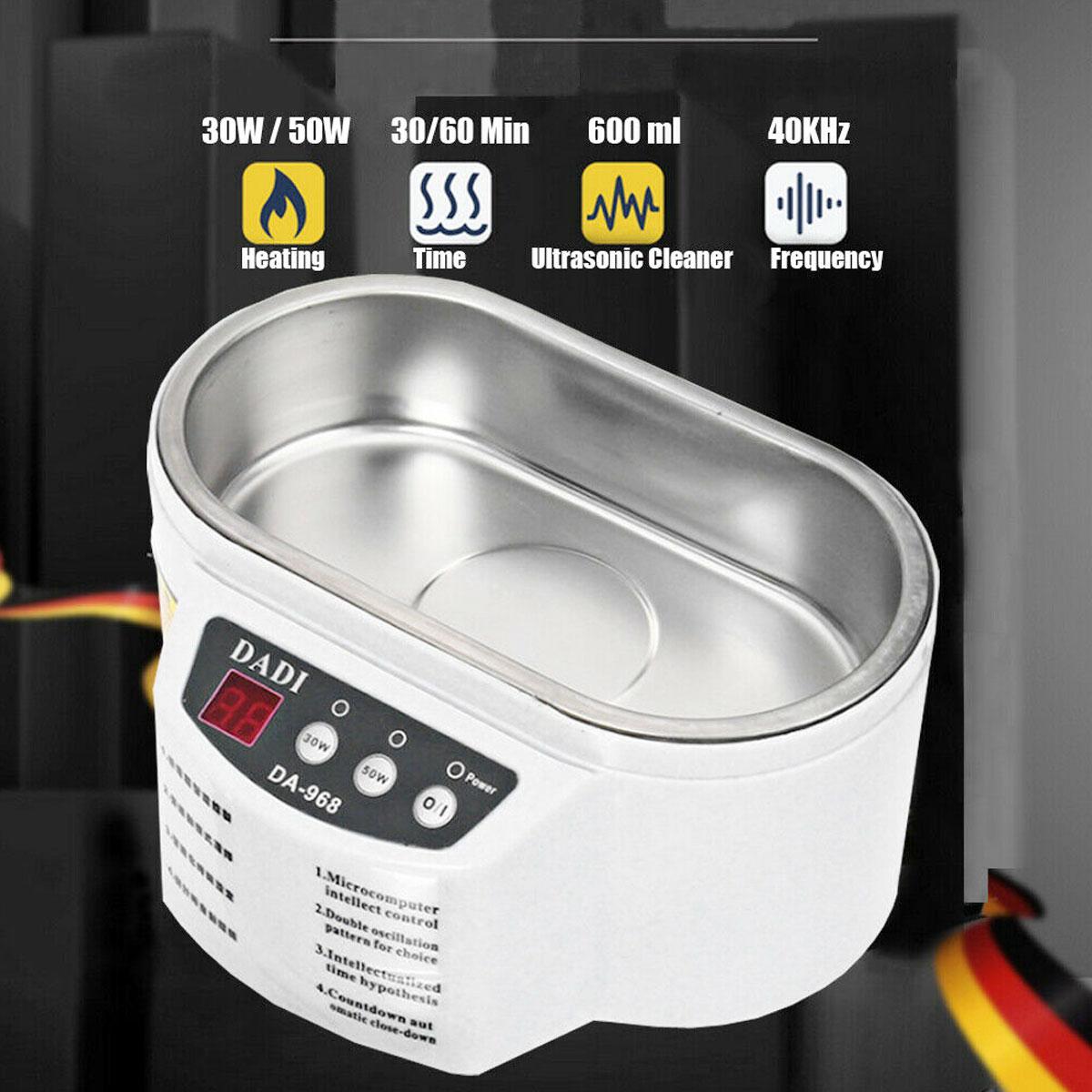 50W 600ML Mini Ultrasonic Cleaner Jewelry Glasses Circuit Board Cleaning Machine Intelligent Control Ultrasonic Cleaner Bath