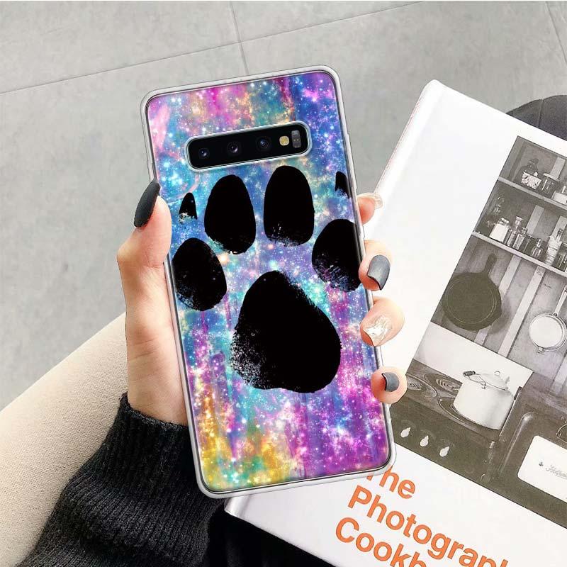 Dog Footprint Paw Case For Samsung Galaxy S20 Ultra Note 10 9 8 S10E S9 S8 J4 J6 J8 Plus + Pro S7 S6 Soft Phone Coque