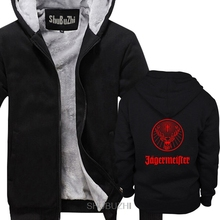 Mens Jagermeister Music Tour Logo men thick hoodies Winter style fashion brand man hoody cool coats sbz6308