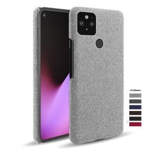 for Goolgle Pixel 4a 4 4XL 3A 3XL XL 2 3 Fabric + PC Febric Antiskid Case Cloth Texture Fit Cover Coque for Pixel 5 5XL