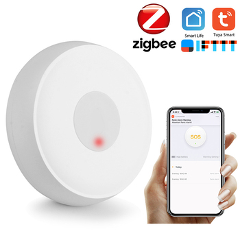 цены Tuya Zigbee Wireless Remote Call Button SOS/Emergency Button Caregiver Pager for Bed/Chair/Floor Mat Fall Alarm Patient Elderly