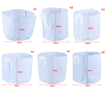 Hot 6 Sizes Biodegradable Non-woven Nursery Bags Plant Grow Bags Fabric Seedling Pots Eco-Friendly Aeration Planting Bags image