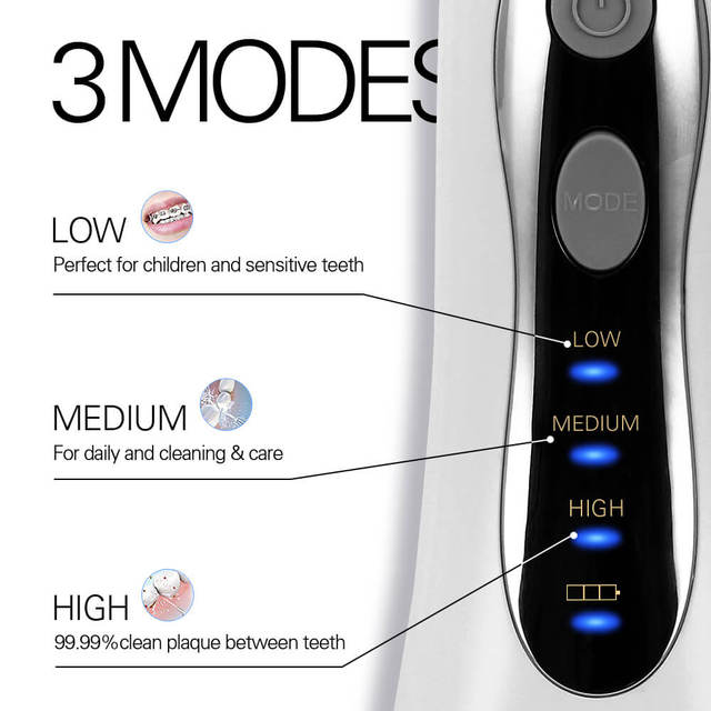 New Cordless 3 Modes Oral Jet Irrigator Portable Water Dental Flosser USB Rechargeable Water Jet Floss Tooth Pick 5 Tips 300ml