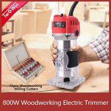 목공 전기 트리머 800W 30000rpm 나무 밀링 조각 Slotting 트리밍 기계 손 조각 기계 나무 라우터
