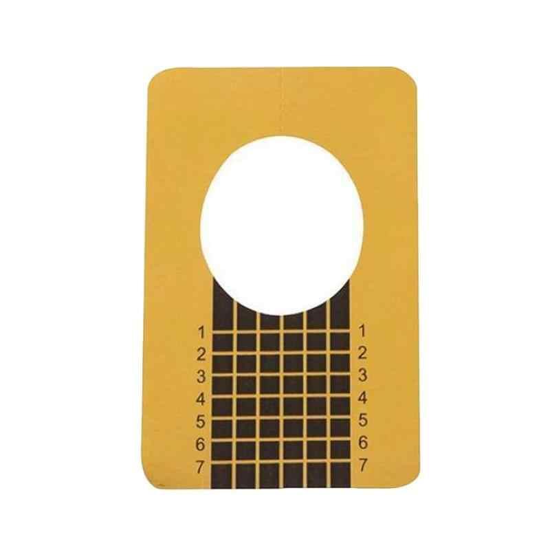 10/20/40 PCS Profesional Bentuk Kuku Akrilik Kurva Kuku untuk Kuku Panduan Nail Art Panduan bentuk Stensil dan Perangko