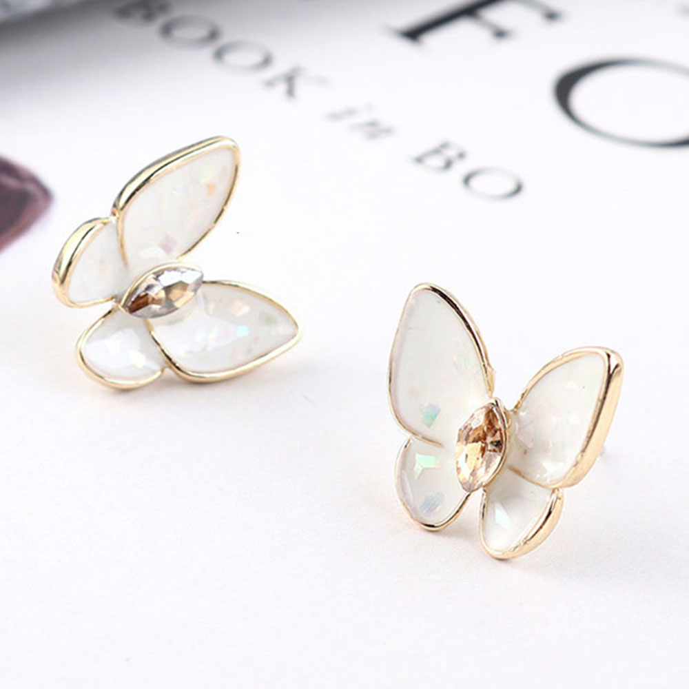 2019 Promotion Copper Casual/sporty Bowknot Women Brinco Aros S925 New Butterfly Earrings For Crystal
