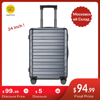 цена на NINETYGO 90FUN 24 inch PC Suitcase Rolling Luggage Carry-on Spinner Wheels TSA Lock Business Vacation for Women Men