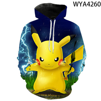 3d Printing Pokemon Cartoon Anime Men's And Women's Hoodie Fashion Children's Cute Sweatshirt Street Pullover Coat 2