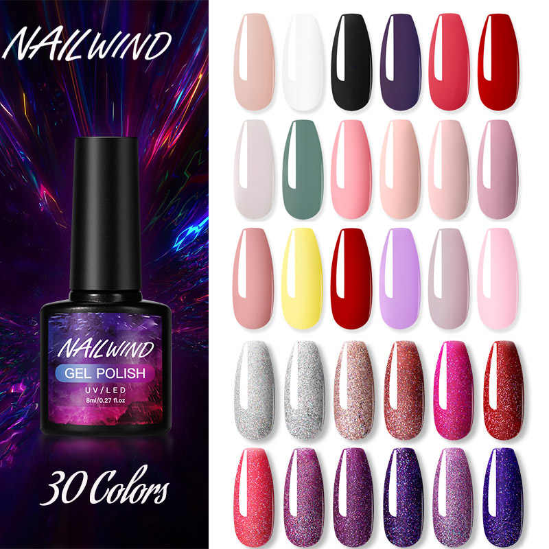 Nailwind Gel Polish Hybrid Vernissen Neon Manicure Set Voor Nagels Extension Base Top Coat Uv Permanente Nail Art Gel Nail polish