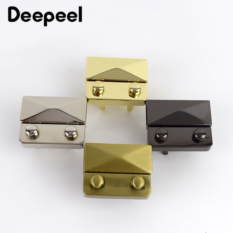 Deepeel 2/4pcs 44x35mm Women Bag Metal Locks Buckle Fashion Pushed Snap Lock For Bag Purse Making DIY Replacement Clasp BF309