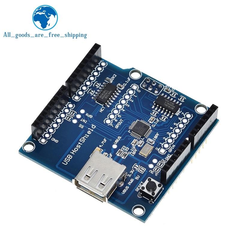 Usb host shield 2.0 para arduino uno mega adk compatível para android adk diy placa de módulo eletrônico
