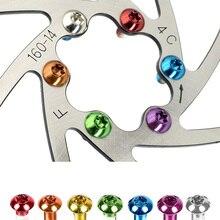 Bolts Rotor Disc-Brake Fixing-Screws Bike Bicycle MTB Colorful Torx 12PCS T25 M5x10mm