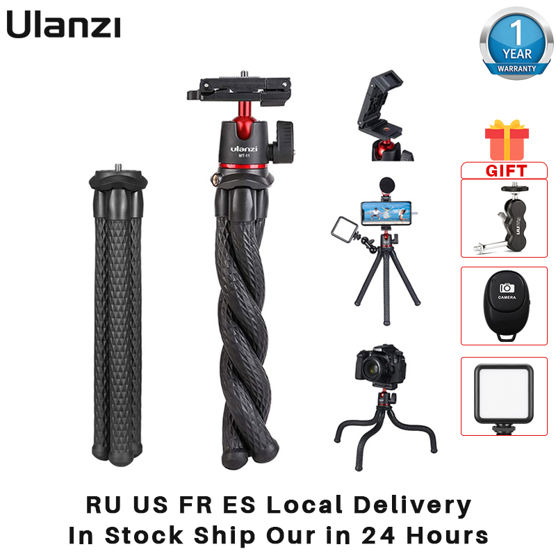 Ulanzi MT 11 Travel Flexible Octopus for Smartphone DSLR SLR Vlog Tripod for Camera Gopro iPhone Huawei Portable 2 in 1 Tripod Live Tripods  - AliExpress
