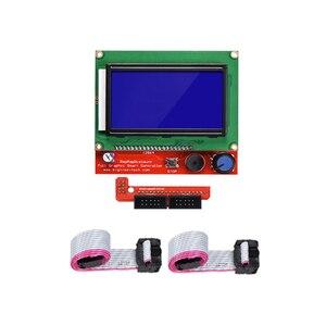 Image 3 - Rampas reprap 1.4 kit com mega 2560 r3 + heatbed mk2b + 12864 controlador lcd drv8825 interruptor mecânico cabos para impressora 3d