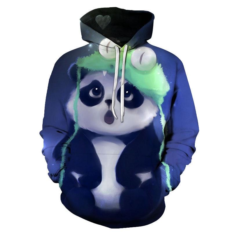 Hip Hop Skateboard Hoodie Casual Sports Hoodie Fall 2020 New 3d-printed Kung Fu Panda Personality Long-sleeved Hoodie