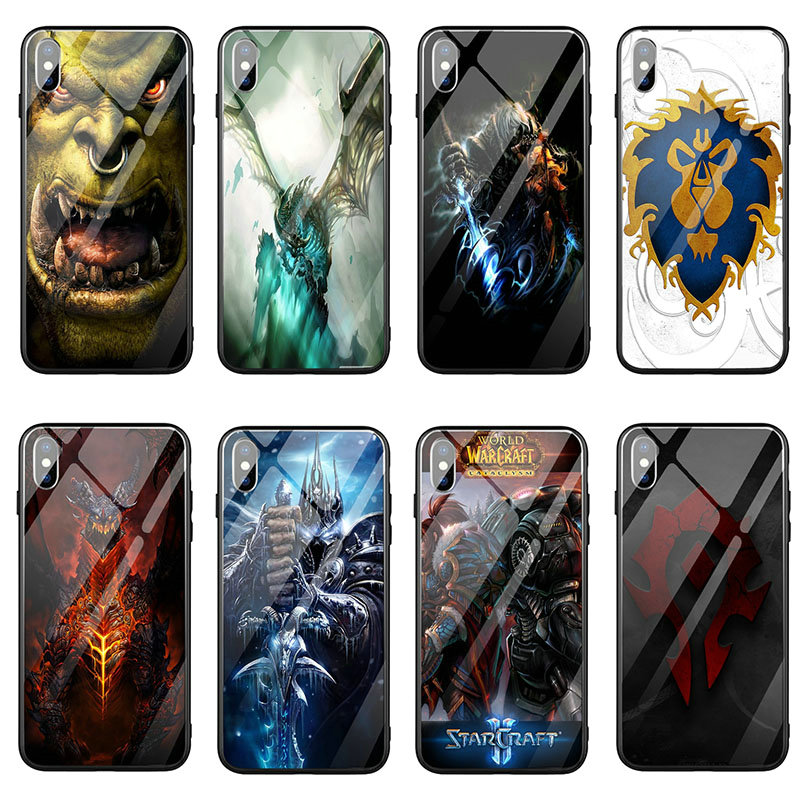 Wows <font><b>Logo</b></font> World Of Warcrafts Tempered Glass Phone <font><b>Case</b></font> for <font><b>iPhone</b></font> 6 5 5S SE 2020 <font><b>6S</b></font> 7 8 Plus X XR XS 11 Pro Max Bags image